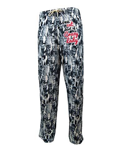 Lounge-Pyjama-Hose für Frauen – niedliche Katzenhose, grafischer Druck – lustig, humorvoll, Neuheit Loungewear Hose -  mehrfarbig -  Large