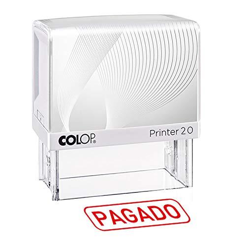 Sello con texto PAGADO, CONTABILIZADO, COPIA. Más de 35 opciones disponibles – Tinta roja, 38x14mm