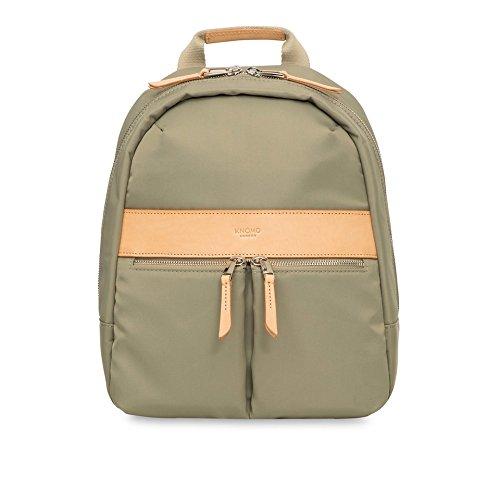 Knomo Mini Beauchamp sac à dos Cuir, Nylon Olive - Sacs à dos (Cuir, Nylon, Olive, Uniforme, Femmes, 25,4 cm (10\