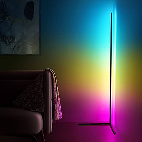 RGB 変色 フロアランプ 調光可能 フロアライト 北欧風 LEDランプ コーナーライト 358種類のライトの効果 間接照明 フロアスタンド・ランプ 寝室/リビング/オフィスなど適応 リモコン付き