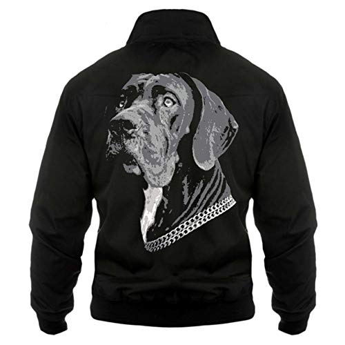 Spaß kostet Männer und Herren Harrington Jacke Deutsche Dogge (mit Rückendruck)