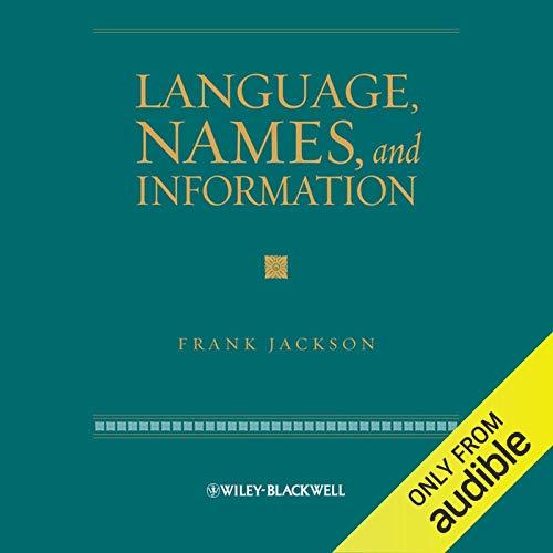 Language, Names and Information copertina