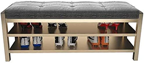 XDDDX Footstool Living Room Furniture Home Furniture Iron Stool Shoe Storage Stool Sofa Stool Shoe Stool (Color : A)