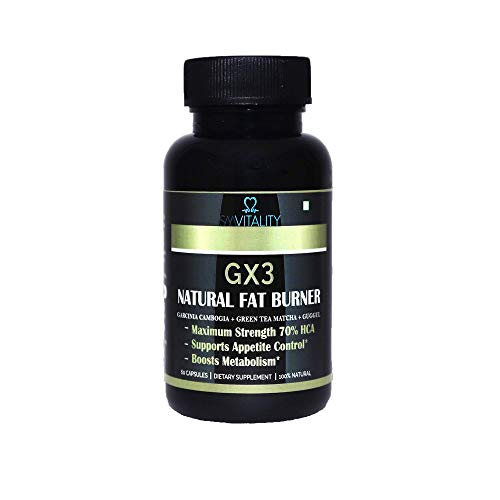 GX3 Natural F Burning Capsules for Women and Men - 60 Capsules   Active Substances Complex   Without Additives