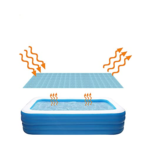 Swimming Pool Cover Rectangle Pool Easy Set Pool Cover Above Ground Pool Solar Cover for Inflatable Pool Frame Pools Reduce Water Evaporation Keep Water Warm Keeps Out Leaves Debris Dirt (3x2m)
