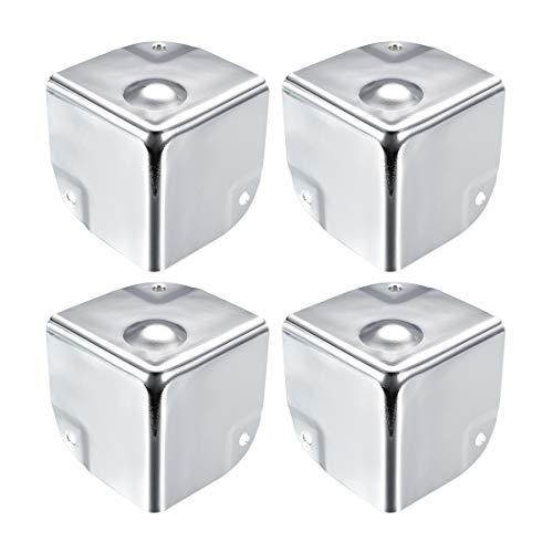 uxcell Metal Box Corner Protectors Wooden Box Edge Guard Protector 50 X 50 X 50mm Silver Tone 4pcs