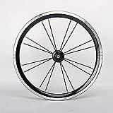ZCBDNB Faltrad Radsatz,16 Zoll Kleine Fahrrad-Räder Aluminium-Felge Vorne 2 Hinten 4 Lagernabe V...