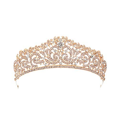Tocado de boda de diamantes de imitación vintage de corona corona accesorios...