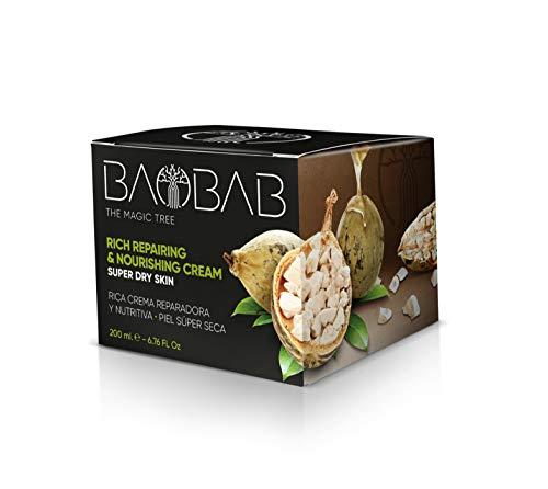 - 538 Baobab The Magic Tree Crème pour le visage avec vitamine E Beurre de karité bio anti-âge pour peaux sèches 200 ml