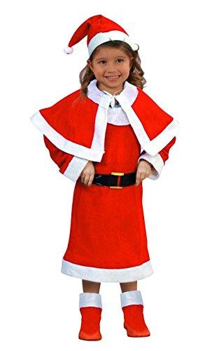 DC Costume de Mere Noel enfant - Deguisement Noël - 3/4 ans - 065