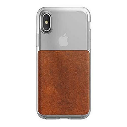 NOMAD Capa transparente para iPhone X/XS couro rústico marrom Horween