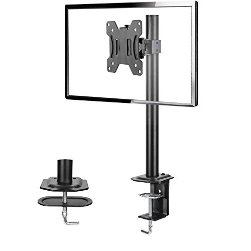 Single Monitor Stand  Computer Monitor Stand for 13 inch to 32 inch Screen Adjustable Height Tilt Swivel Rotation Weight up to 176lbs