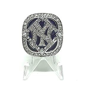 2009 New York Yankees Derek Jeter World Series High Quality Replica Ring Size 13.5-Silver Colored