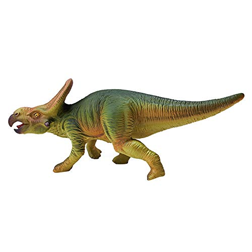 RECUR Protoceratops Dinosaur Figure Toys, Educational Plastic Dinosaur Model Action Figurines Toy Realistic Hand Painted Replica 10inch Collectibles Gift for Boys Kids Girls Party Decoration