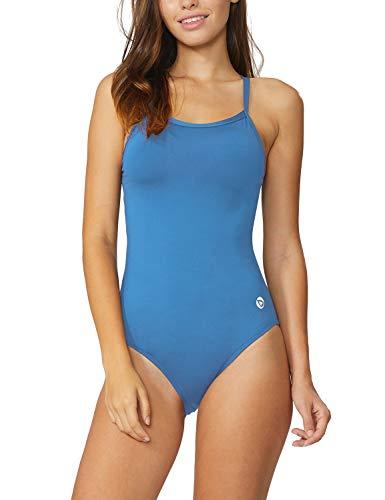 BALEAF Women's Athletic Training Adjustable Strap One Piece Swimsuit Swimwear Bathing Suit Sky Blue 34