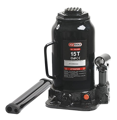 KS TOOLS 160.0356 - Cric Bouteille Hydraulique - Capacité 15 Tonnes