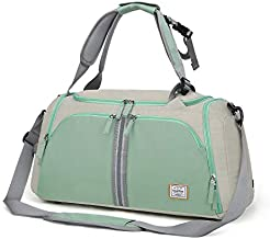 WindTook Travel Duffels Gym Bag 40L Sports Dance Bag Carryon Bag Weekender Overnight Bag Shoes Compartment for Women Girl 20.1 x 10.6 x 10.6 inches for Weekend Getaway Camping Training Swim Dance Yoga