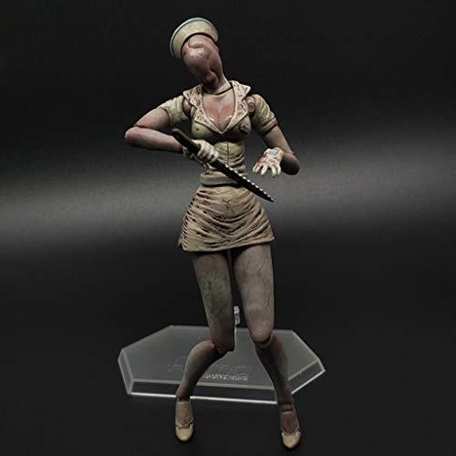 PY Figura de acción de Silent Hill Burbuja Jefe Enfermera Hecha a Mano Modelo Popular de Dibujos Animados Regalo Decoración de Juguete de Silent Hill 2 3 4 Ordenadores muñeca Adornos