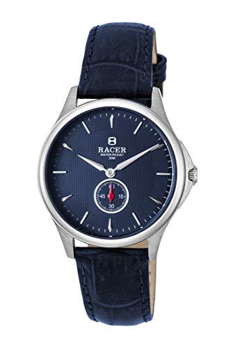 Racer - Reloj Unisex clásico, con Correa en Cuero - Mod. R15T02F2
