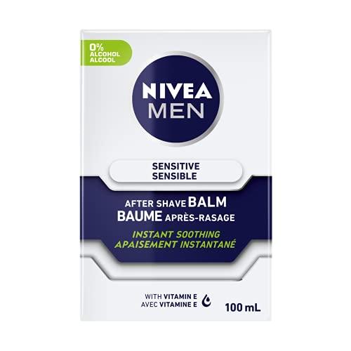 Nivea Men Sensitive After Shave Balm, 100 Milliliters (Pack of 4)