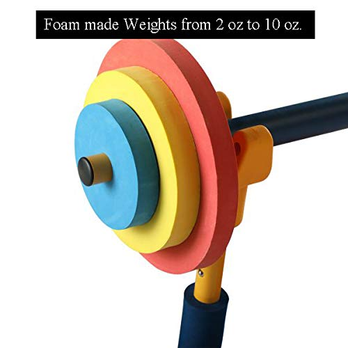 Kids Weight Bench Set, Workout Equipment Weights and Adjustable Bar Bench Press Set for Kids, Weight Lifting Fitness Mini Barbell Toy for Boys Girls