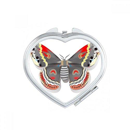 DIYthinker Simple pâle Papillon Rose avec des Fleurs de Coeur Maquillage Compact Miroir de Poche Portable Mignon Petit Miroirs Main Cadeau Multicolor