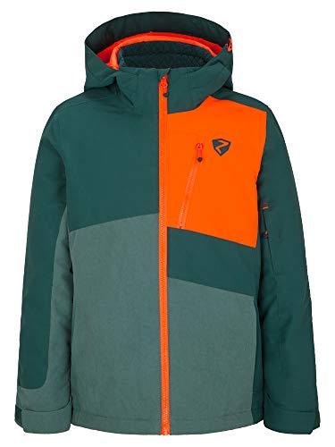 Ziener Jungen Ayden Junior Kinder Skijacke, Winterjacke | Wasserdicht, Winddicht, Warm, Spruce Green Washed, 140