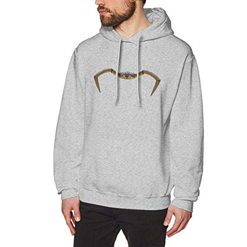Comilee Mens Subnautica Coral Crab Classic Hiking Hoodies Long Sleeve M