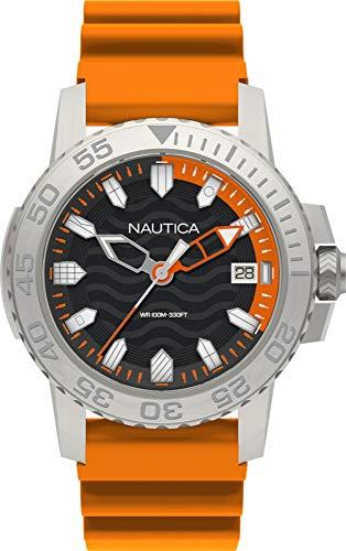 Nautica Reloj Analógico para Hombre de Cuarzo con Correa en Silicona NAPKYW002