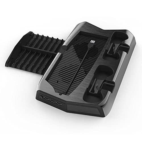 Soporte vertical para ventilador de PS5 Digital Edition con 14 ranuras de juego, 3 puertos de concentración, estación de carga para ventiladores PS5