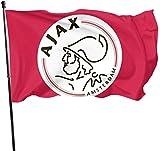 Ajax Amsterdam Dekorative Garten-Flagge, für den Außenbereich, Kunstfahne für Zuhause, Garten, Hof, Dekoration, 91 x 152 cm
