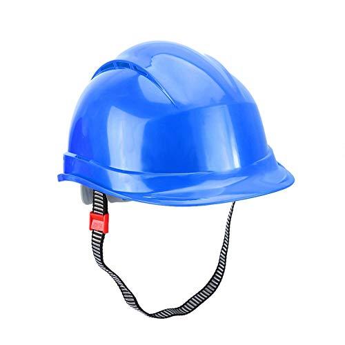 【𝐑𝐞𝐠𝐚𝐥𝐨】 Casco duro, casco de seguridad ABS, alta resistencia Buena rigidez lateral De moda para ferrocarriles Minero de carbón Minero Construcción naval Metalurgia Soldador(blue)