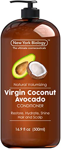 Virgin Coconut and Avocado Oil Conditioner  Helps Restore Shine Hair Gloss and Hydration to Dry Hair and Itchy Scalp – Clarifying and Nourishing – Safe for All Hair Types  169 fl Oz