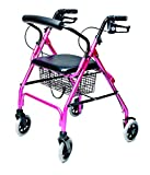 Lumex Walkabout Lite Rollator, Pink, RJ4300P (Health and Beauty)