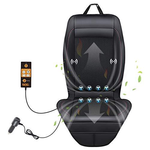 SEG Direct 3-in-1-Smart-Sitzkissen-Vibrationsmassage für das Fahren, universeller 12-V-Ausgangsspannungsadapter mit 5 einstellbaren Stufen - Schwarz