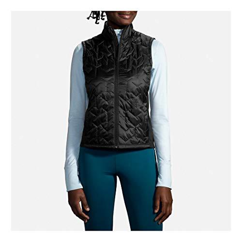 Brooks Women's Shield Hybrid Vest, Black, XL (Women ;s 16)