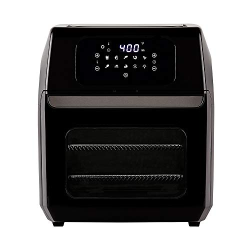 PowerXL Air Fryer Oven 10 QT with 8-in-1 Cooking Presets and LED Digital Touchscreen, Crisp, Bake, Roast, Broil, Reheat and More, 1700 Watts (Black)