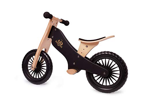 Kinderfeets Balance Bike - Wooden Balance Bike | Sustainable and Eco-Friendly | Adjustable Riding Balance Toy for Kids and Toddlers (Black)