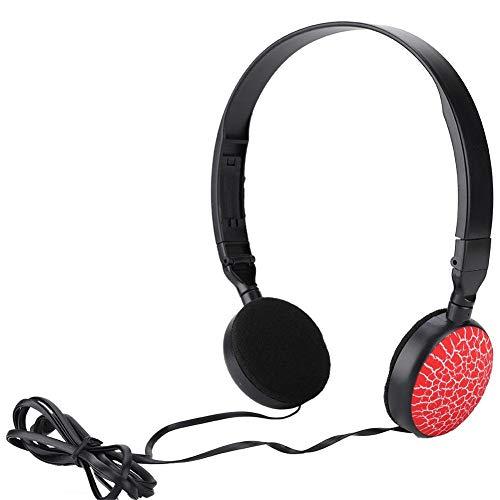 Tosuny Kinder Koptelefoon Bedraad Kinderen Cartoon 3D Surround Stereoscopisch Geluid Headset Opvouwbare Muziek Hoofdtelefoon (Rood)