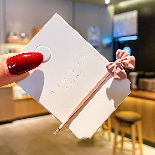 2020 - Pinzas para el pelo para mujer, diseño de lazo de aleación, color rosa