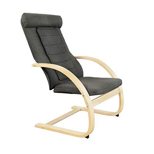 Medisana RC 410 relaxstoel 88410, met ingebouwde shiatsu-massage, warmtefunctie voor ontspanning met spotmassage, stoel met feel-good factor en massagefunctie
