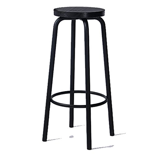 Barkruk, barkruk, barkruk, barkruk, barkruk, massief hout, ijzer, hoge stoelen, vrijetijdstafels en stoelen Stool 70cm Een