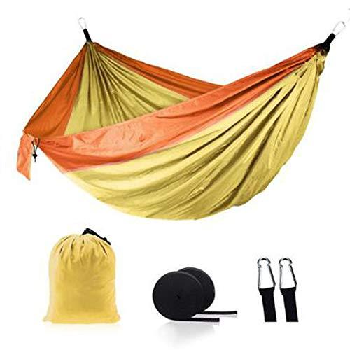 Hamaca para Acampar Al Aire Libre Ultraligero De Nailon Columpio para Dormir Cama De Árbol Jardín Muebles para Patio Trasero Silla Colgante Doble Hamaca 18