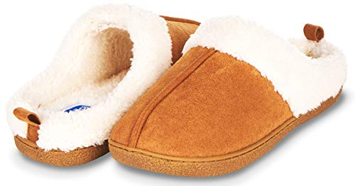 Womens Fur Lined Clog Slipper W/Memory Foam