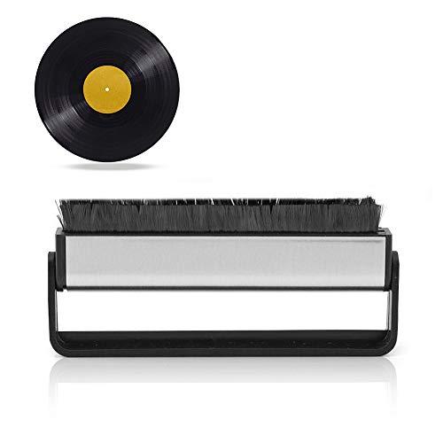 Mavis Laven Cepillo de Limpieza para Discos de Vinilo, Limpiador de limpiadores de Fibra de Carbono antiestático Removedor de Polvo para Discos de Limpieza