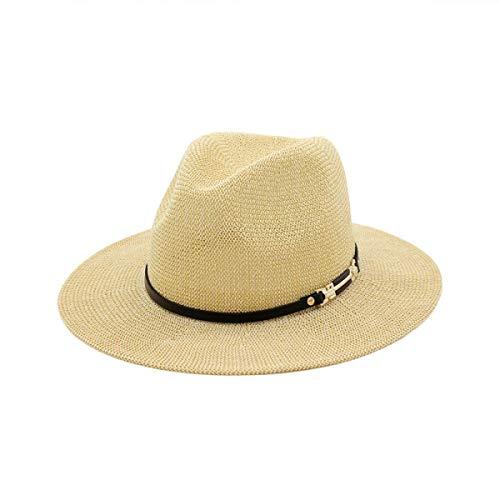hhGold HhGold Sommer Damen Big Eaves Hut Atmungs Sonnenhut Outdoor Reisekappe (Farbe : Beige, Größe : M(56)