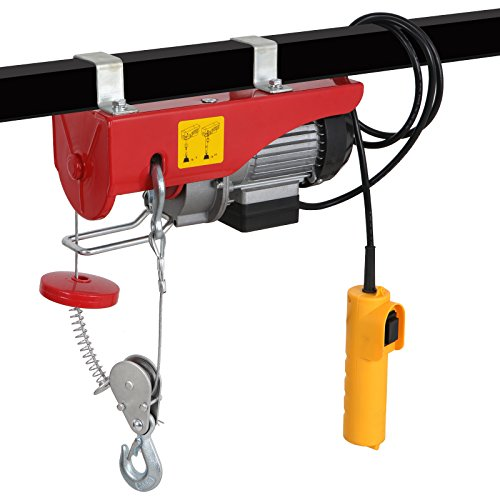 440LBS Electric Hoist Lift 110V Overhead Electric Wire Hoist Crane Garage Auto Shop w/Remote Control