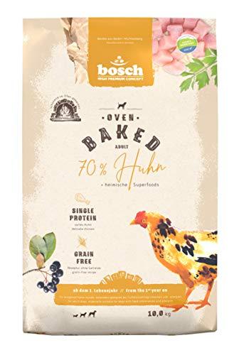 bosch HPC Oven Baked Huhn | Im Ofen gebackenes Hundefutter für ausgewachsene Hunde aller Rassen | Single Animal Protein | Grain-Free | 1 x 10 kg