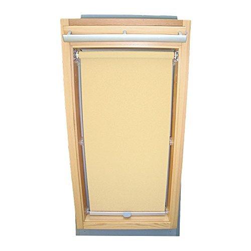 Hochwertiges Sichtschutzrollo Rollo für Velux RHL-EP GGL,GPL,GHL,GTL 306 Creme // Sichtschutzrollo/Sichtschutz-Rollo/Fensterrollo