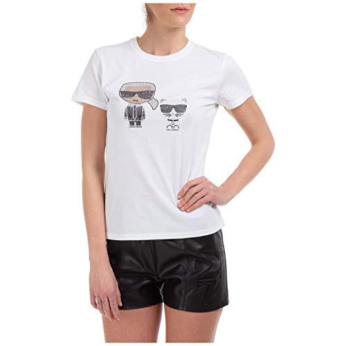 Karl Lagerfeld Damen T-Shirt ikonik Bianco M